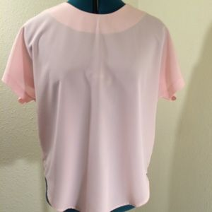 Gay Boyer Collections Sz 12 pink blouse (200)